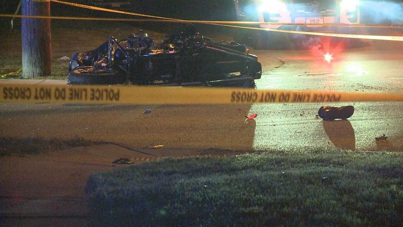 29-year-old man in custody following accident involving a motorcycle.