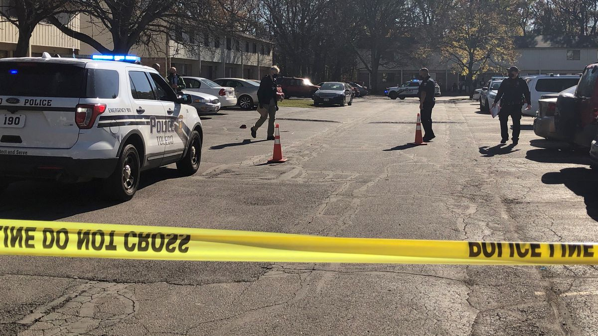Toledo Police have taped off an area in the 900 block of Byrneport Dr. on Tuesday, Nov. 3.