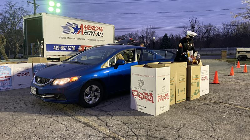 Hundreds of cars drove through the 13abc station parking lot, giving back to kids needing it...