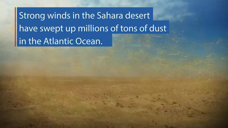From space, we can see a swirling brown mass making its way across the Atlantic – dust from the...