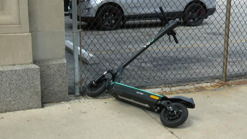 The scooters should be put away neatly, out of the thoroughfare after use.
