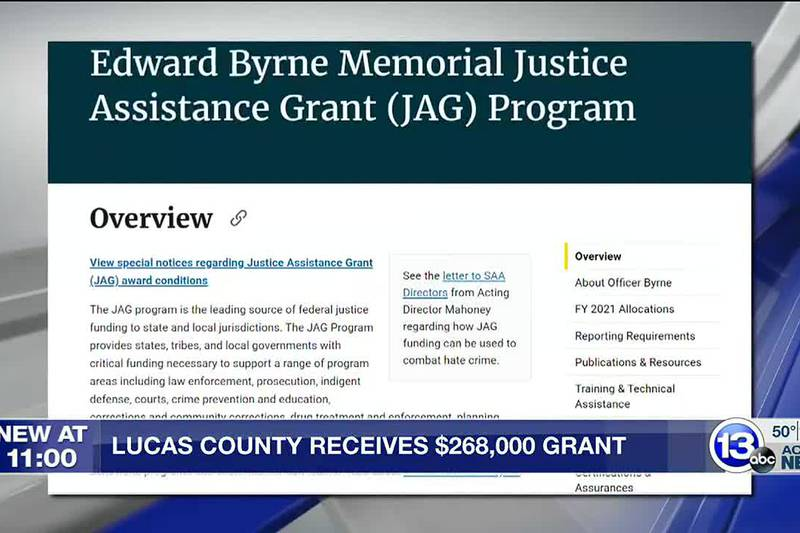 Grant money will go toward properly equipping law enforcement and helping community members...