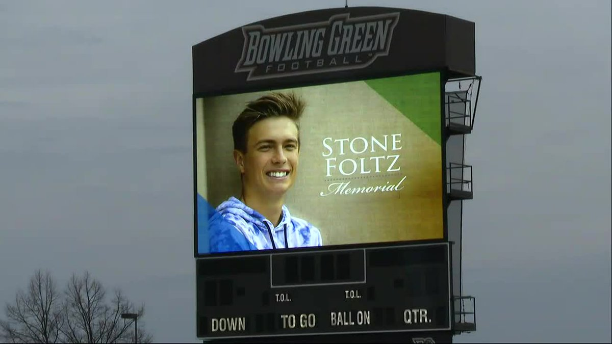 BGSU held a memorial for Stone Foltz on March 14, one week after he died in an alleged hazing...