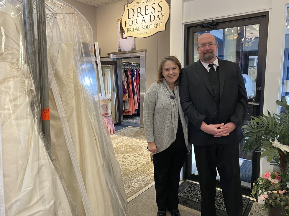 "Husband-and-wife Rachelle Spencer and Mark Huffstutler opened ""Dress for a Day"" in January in..."