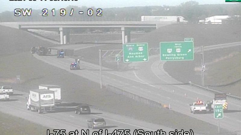 Lanes are restricted on I-475 North near Perrysburg due to a commercial vehicle crash.