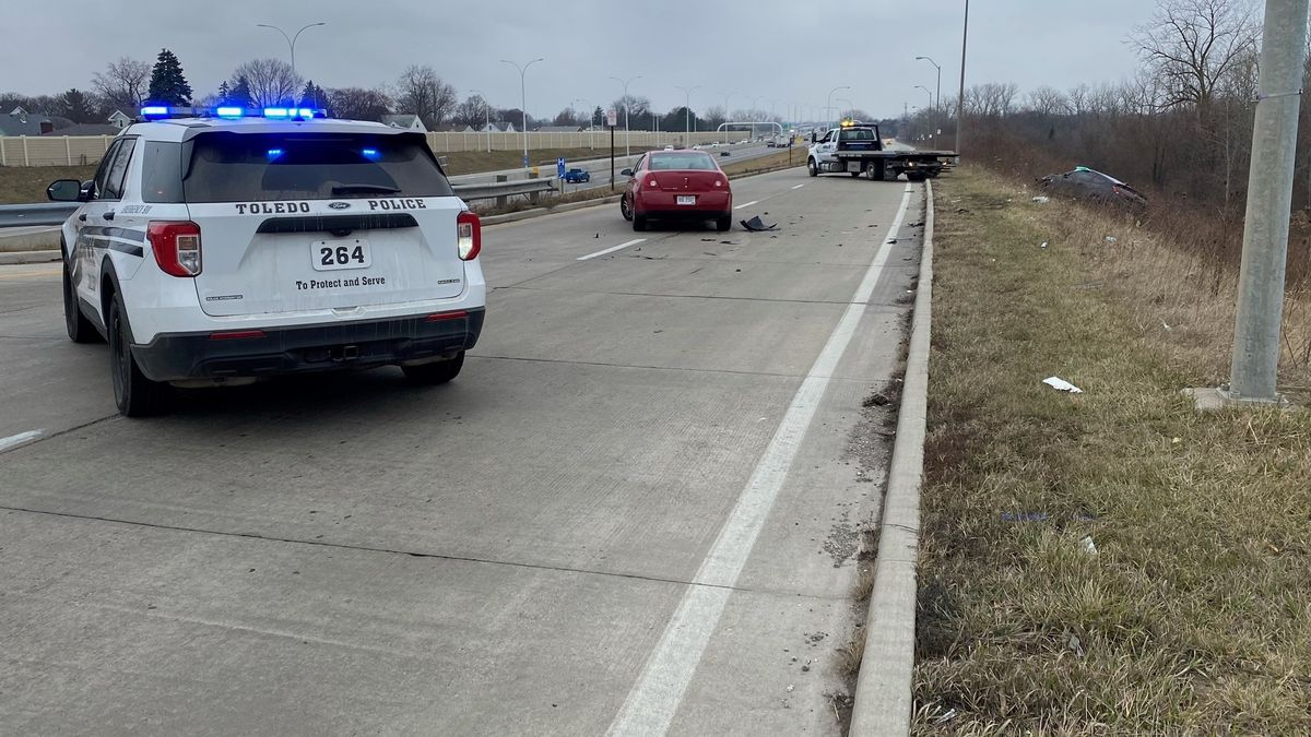 One person was sent to the hospital after a crash Monday, Jan. 11 on N. Expressway Dr.