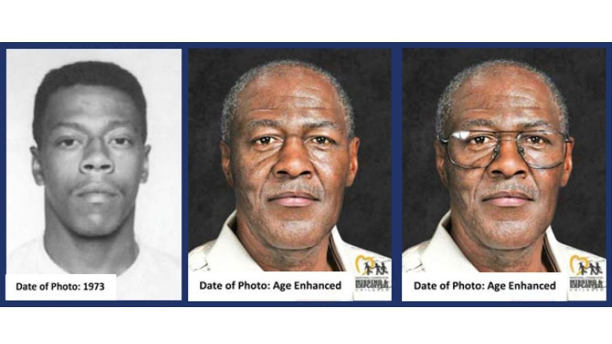 Authorities released these age enhanced photos of Lester Eubanks, a fugitive who has been on...