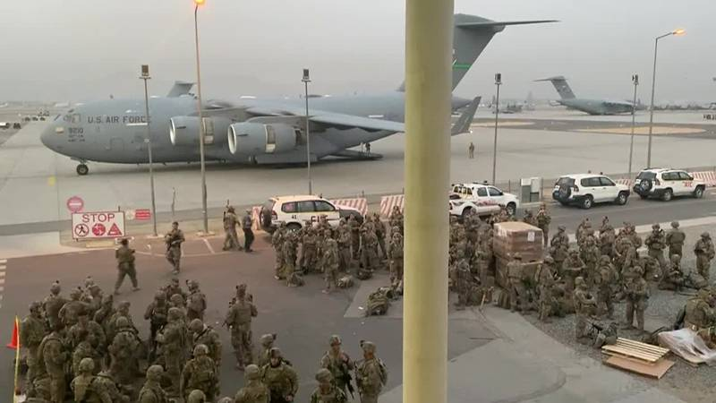 US troops brace for the threat of more terrorist attacks as evacuations continue in...