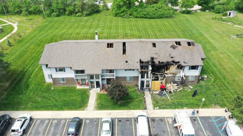 An fire early Sunday, May 23, 2021, at Village Pointe apartments in Dundee took the life of a...