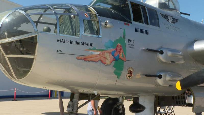 The WWII B-25 will be open for public viewing until August 6th.