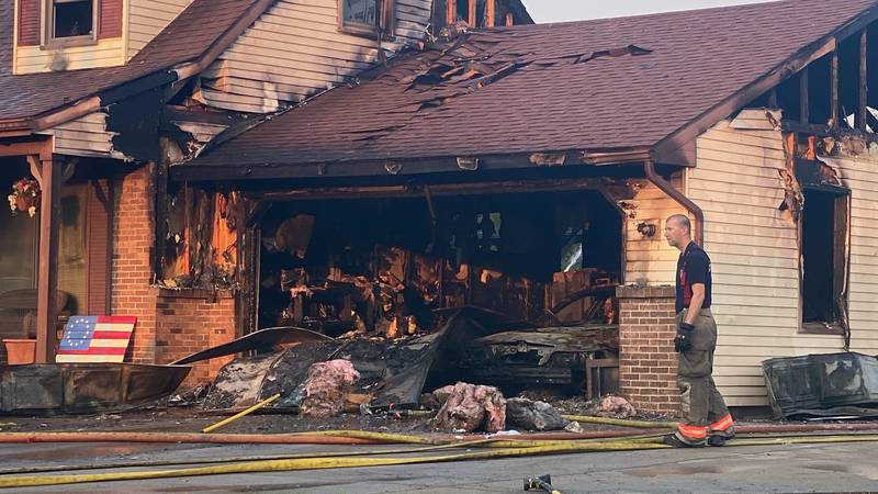 Crews were on the scene of a house fire in the 28000 block of Abbey Rd. in Millbury on...