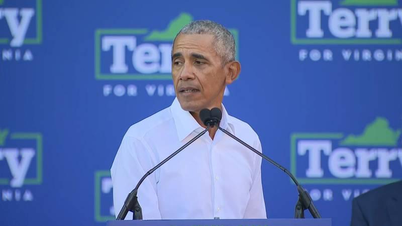 Former President Barack Obama lambasted Republican Virginia gubernatorial nominee Glenn...