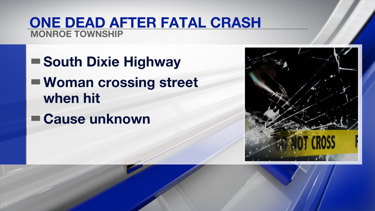 A woman is dead after being struck by a vehicle in Monroe County.