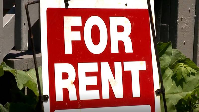 """FILE — A """"for rent"""" sign is pictured in this undated file photo. The Biden administration..."""