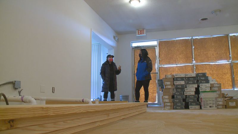 Beauty Salon flooded is set to reopen