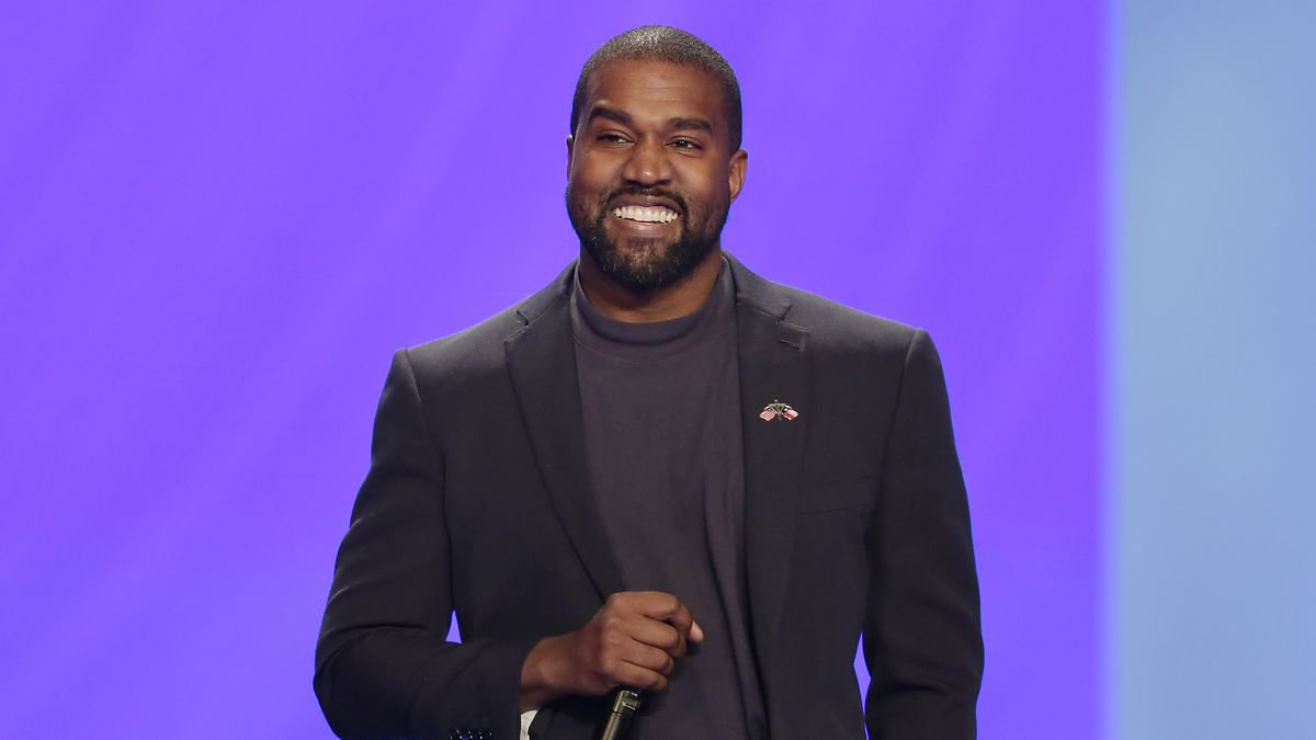 Kanye West answers questions from senior pastor Joel Osteen during the 11 a.m. service at...