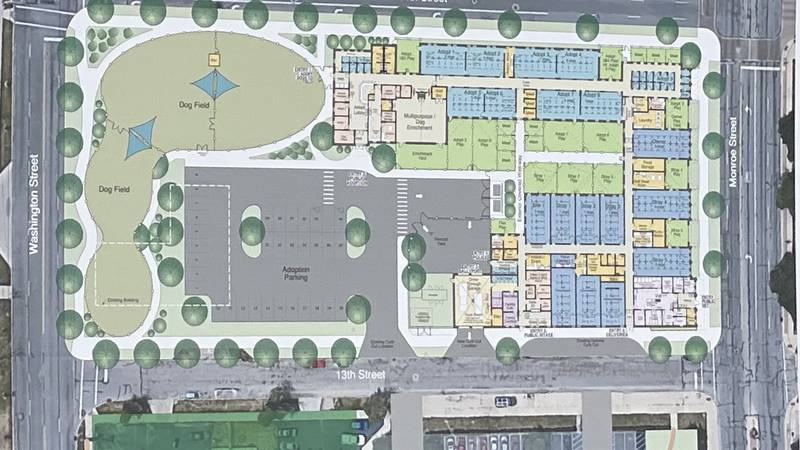 The Lucas County Canine Care and Control facility will be moving to Monroe Street in 2023.