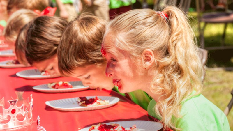 The cherry pie-eating contest is back after a year on hold from the pandemic.