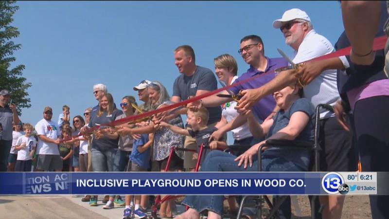 Perrysburg's new all-inclusive playground officially opened Saturday.