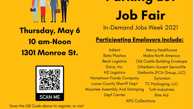 The job fair is Thursday, May 6 from 10am-noon