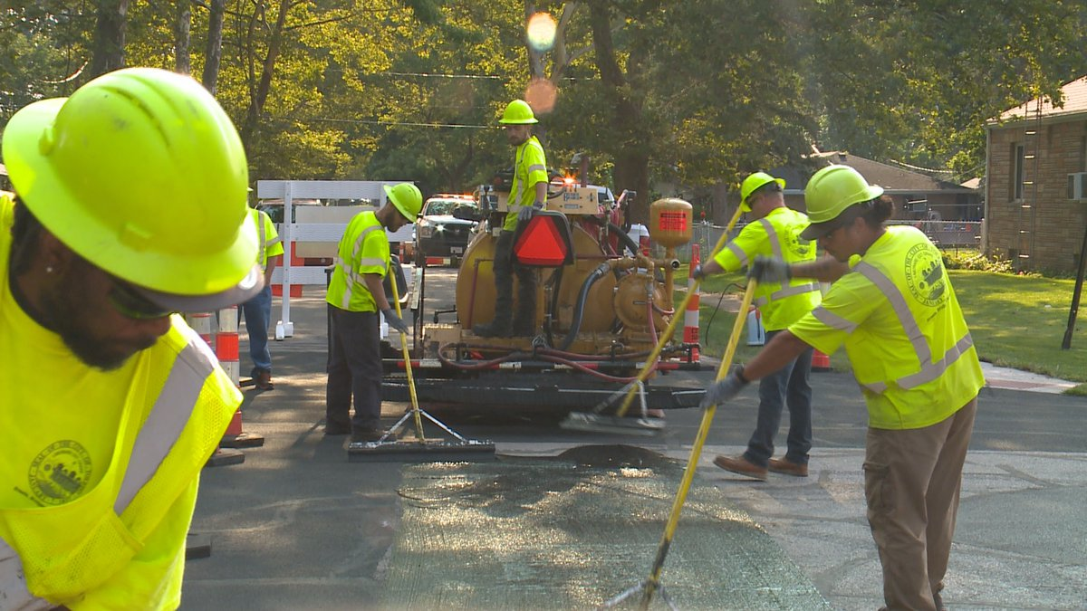 The city says the process can extend the life of a street by 5-7 years.