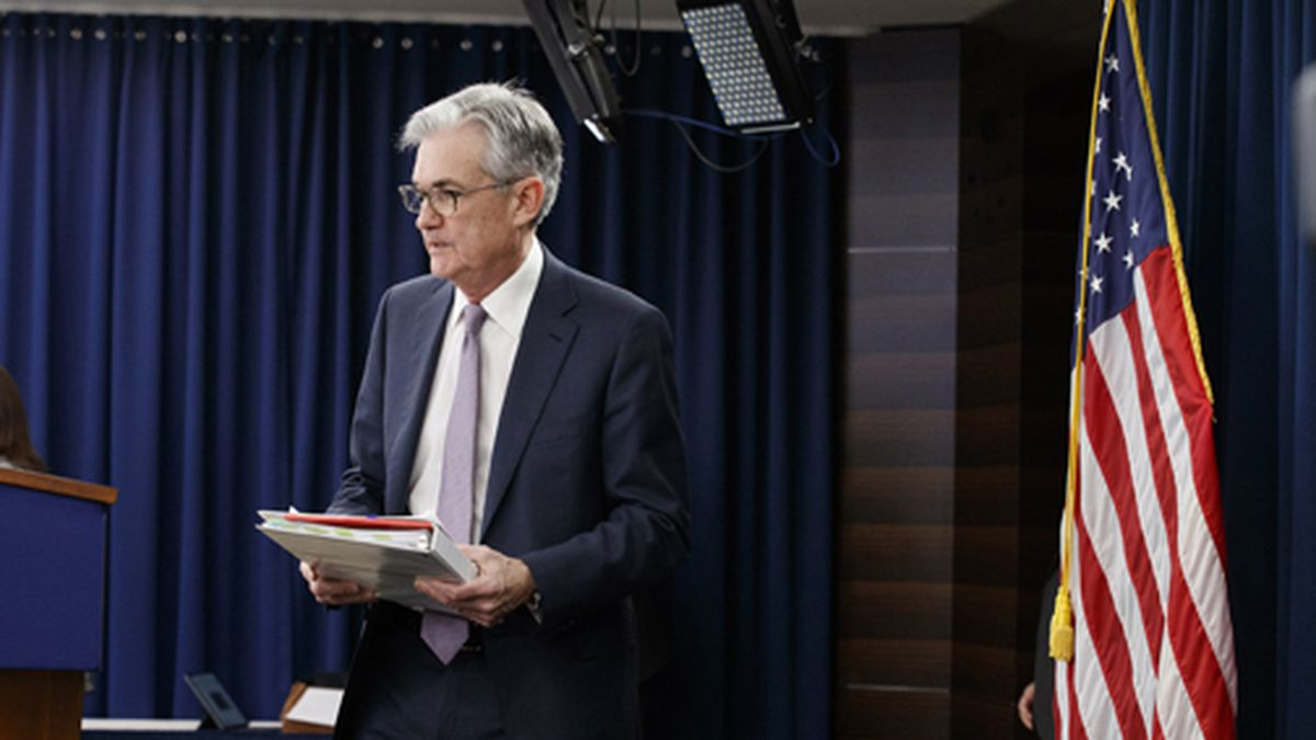 Federal Reserve Chair Jerome Powell arrives to speak at a news conference after the Federal Open Market Committee meeting, Wednesday, Dec. 11, 2019, in Washington. The Federal Reserve is leaving its benchmark interest rate alone and signaling that it expects to keep low rates unchanged through next year. (AP Photo/Jacquelyn Martin)