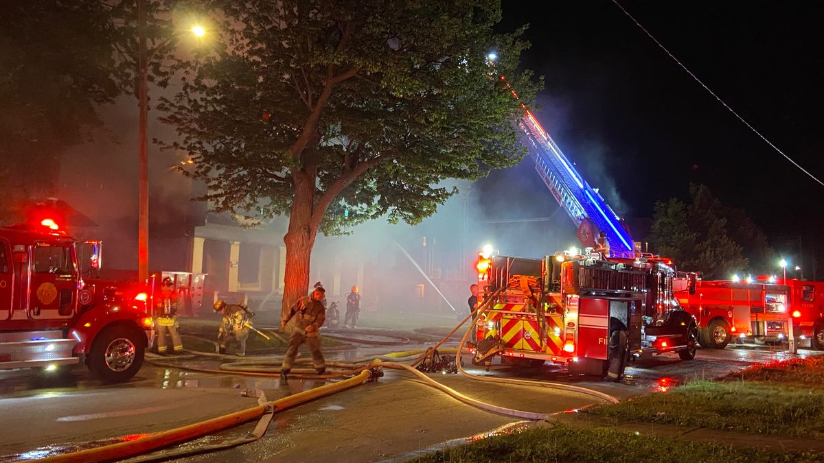 Toledo Fire & Rescue are fighting a house fire on Locust and Superior Thursday night.