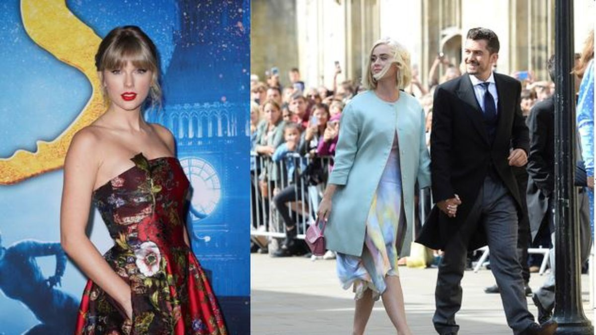 Taylor Swift, left, sent a baby blanket to parents Katy Perry and Orlando Bloom.