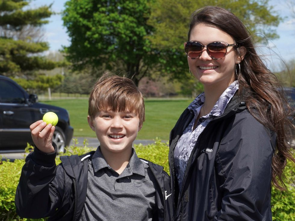 Jimmy Gentry, 10, hit a hole-in-one when his older sister Gracie took him golfing at Bedford...