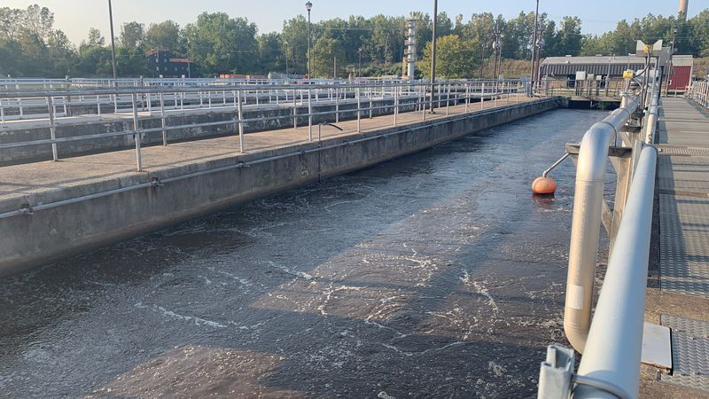 Water samples collected from the wastewater treatment plants are sent to be tested at local...