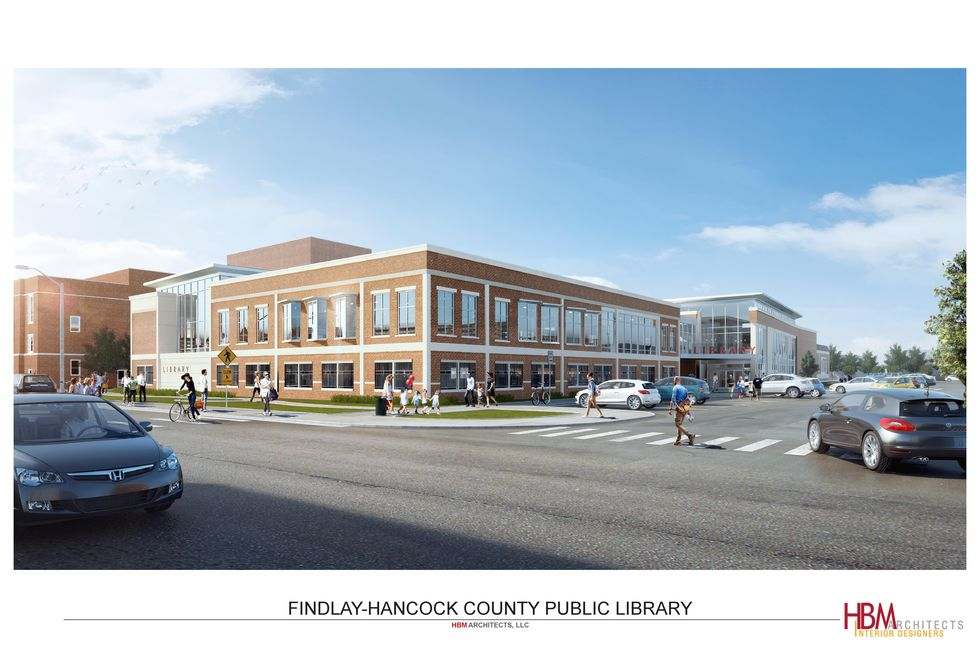 HBM Architects out of Cleveland share an image of what the Findlay-Hancock County Public...