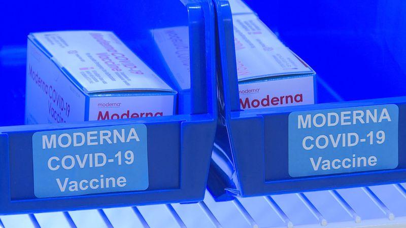 Moderna vaccine arrives at the Greenville VA.