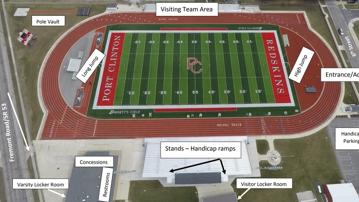 A threat forced an evacuation of True-Lay Stadium in Port Clinton on May 3, 2021.
