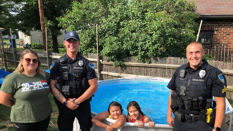 He is charged with stealing a pool pump the family had been waiting for