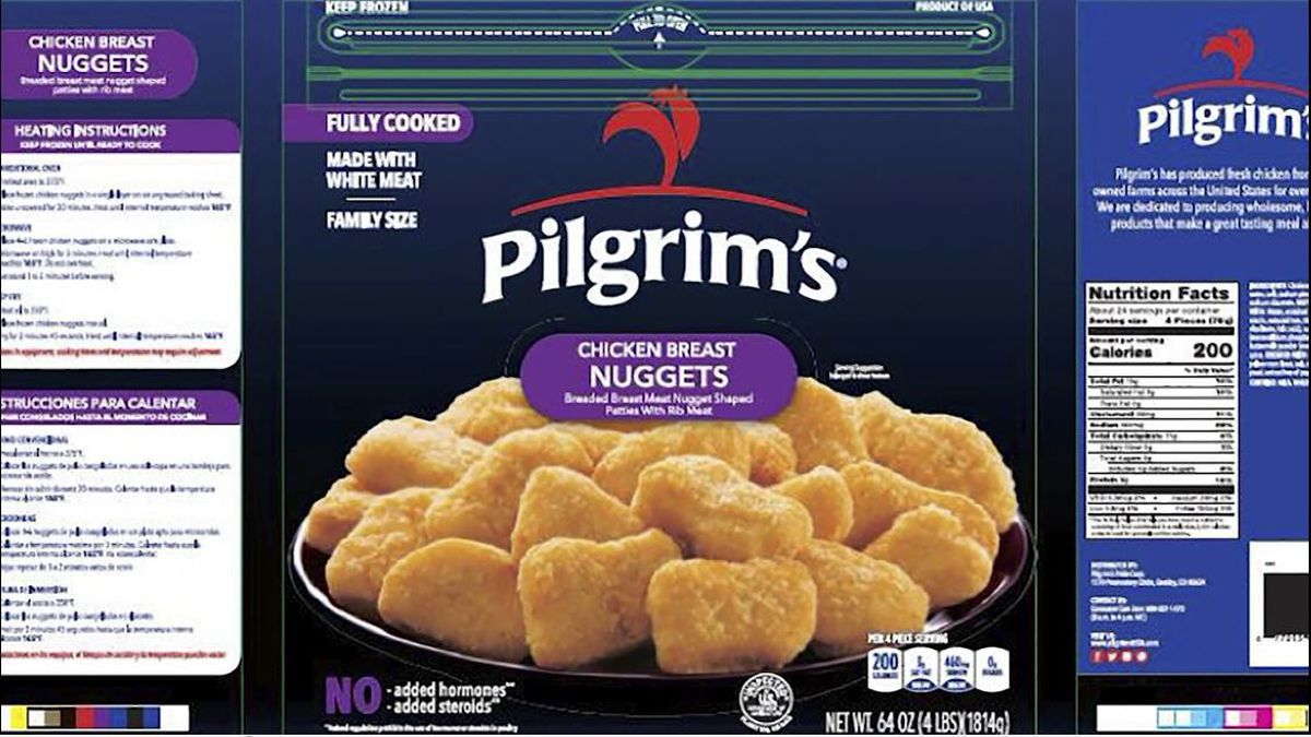 Pilgrim's Pride is recalling nearly 60,000 pounds of chicken nuggets because they may contain bit of rubber.(Source: USDA Food Safety and Inspection Service, CNN)