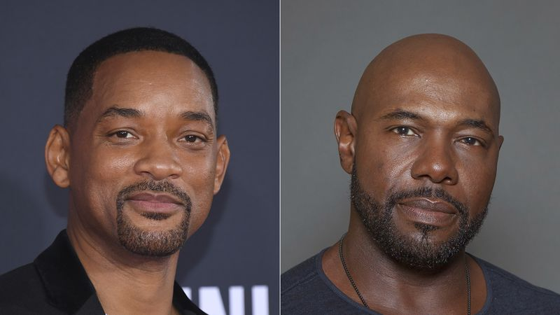 "Will Smith attends the premiere of ""Gemini Man"" in Los Angeles on Oct. 6, 2019, left, and..."