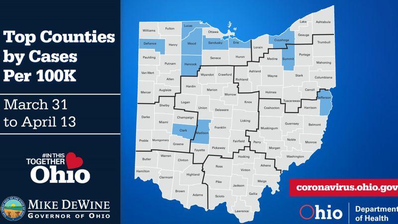 COVID cases rising in NW Ohio.
