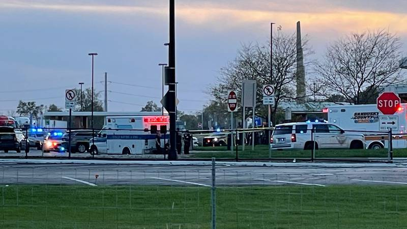 Authorities responded to an Ohio Turnpike plaza on Tuesday, Oct. 19 after a suspect stabbed two...