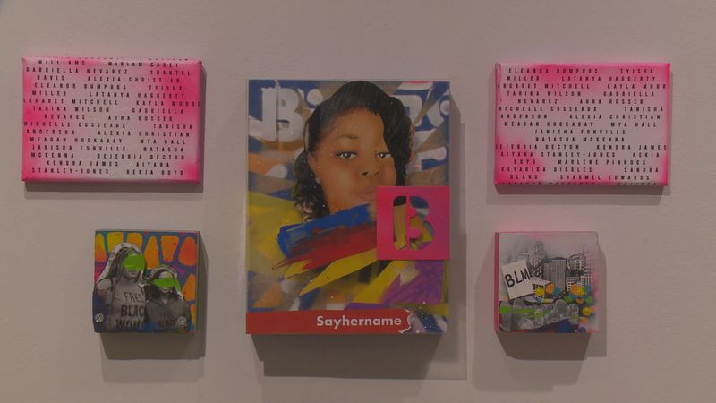 More than 40 works of art from nearly two dozen black artists will remain on display until Oct....