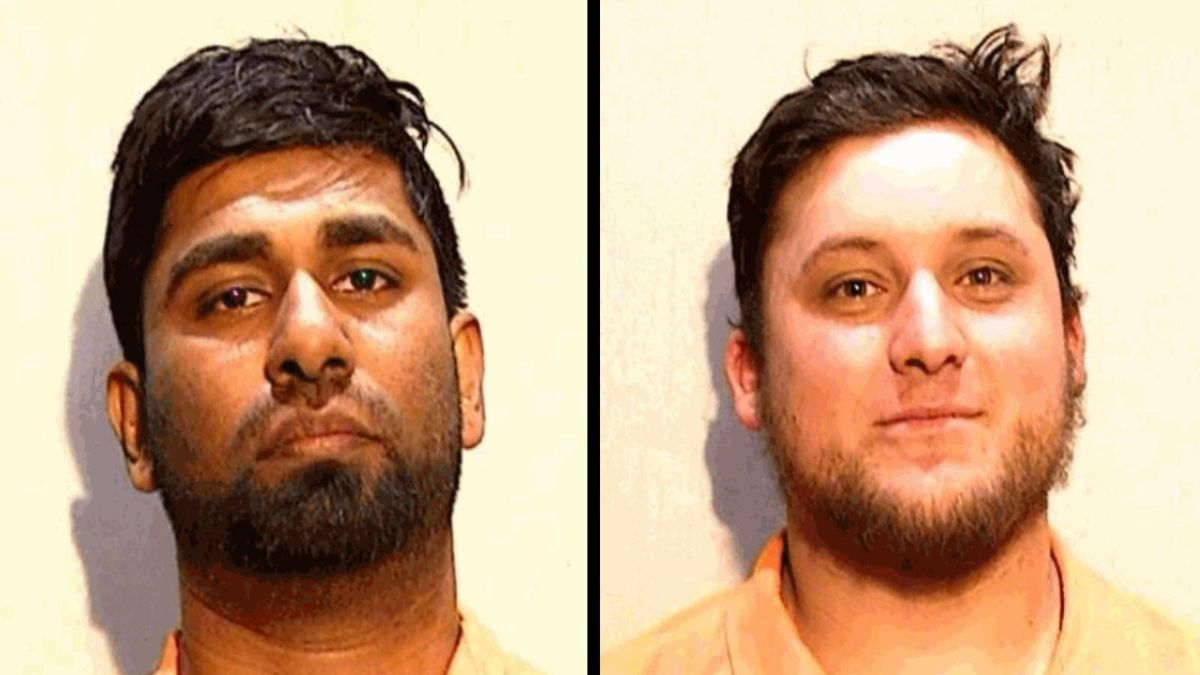 Kariyawasam Chathuranga, left, and Justin Carneavale were arrested on Wednesday, March 10.