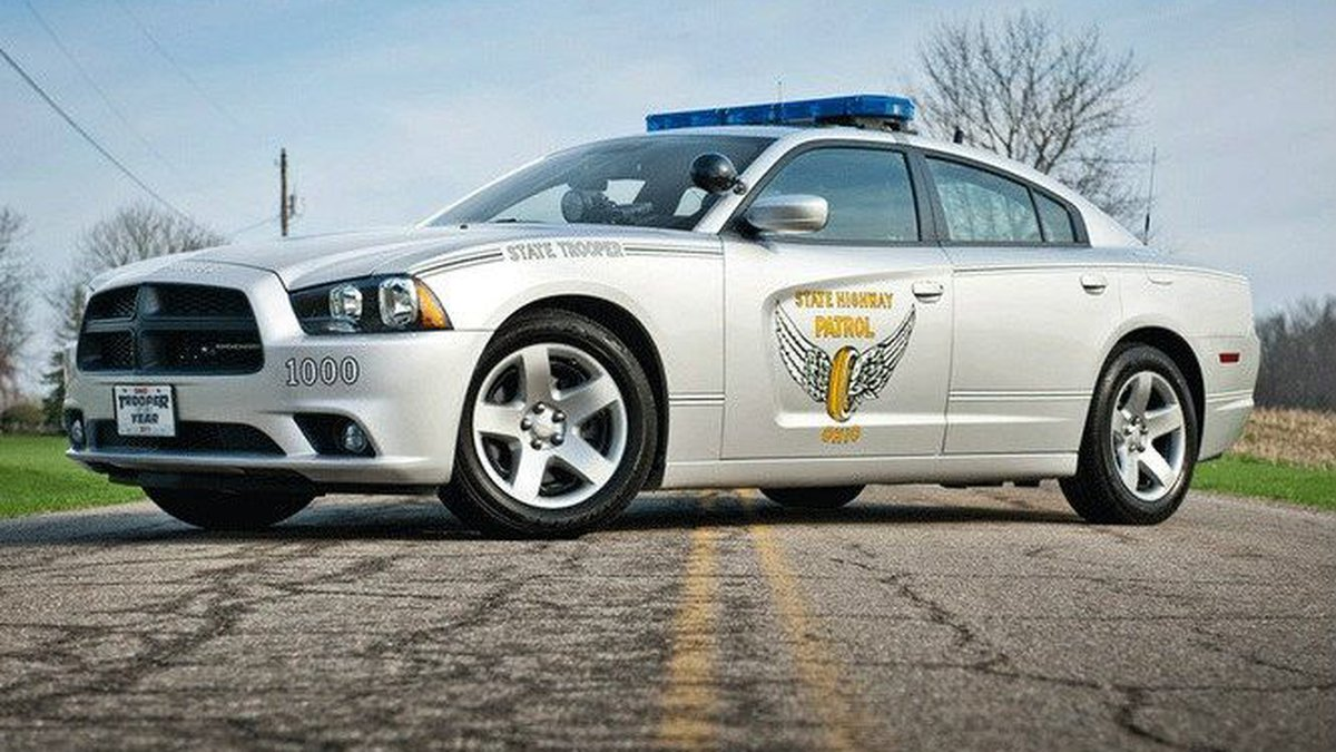 The Dodge Charger that was voted a fan favorite. (Source: Ohio State Highway Patrol)