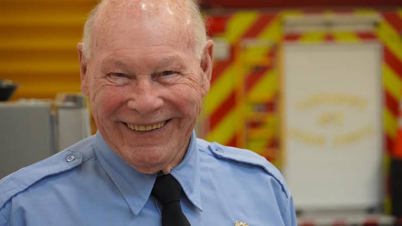 Lindsey Volunteer Firefighter Terry Fought is retiring after 65 years of service