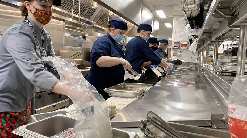 """Penta Culinary students served over 200 hundred """"Jiggs"""" takeout dinners this St. Patrick's Day"""