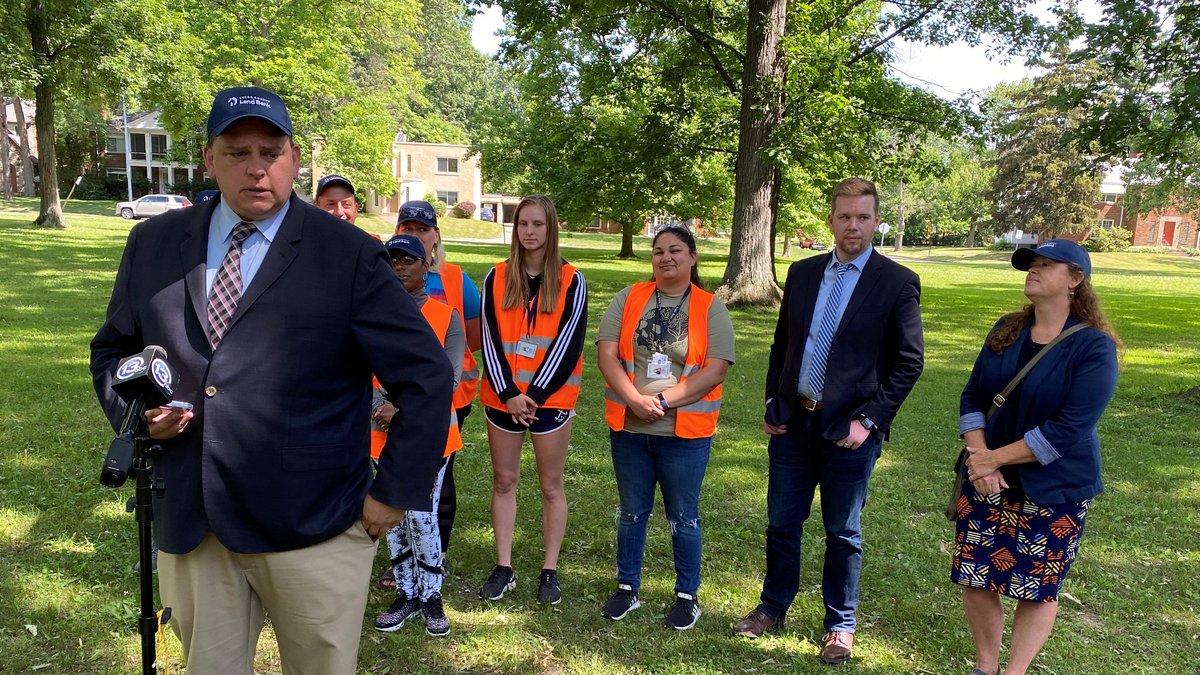 Toledo Mayor Wade Kapszukiewicz speaks during a kickoff event for the 2021 Neighborhood Survey...