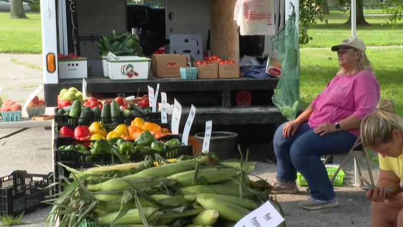 The pop up farmers market was put on by the creating healthy communities program.