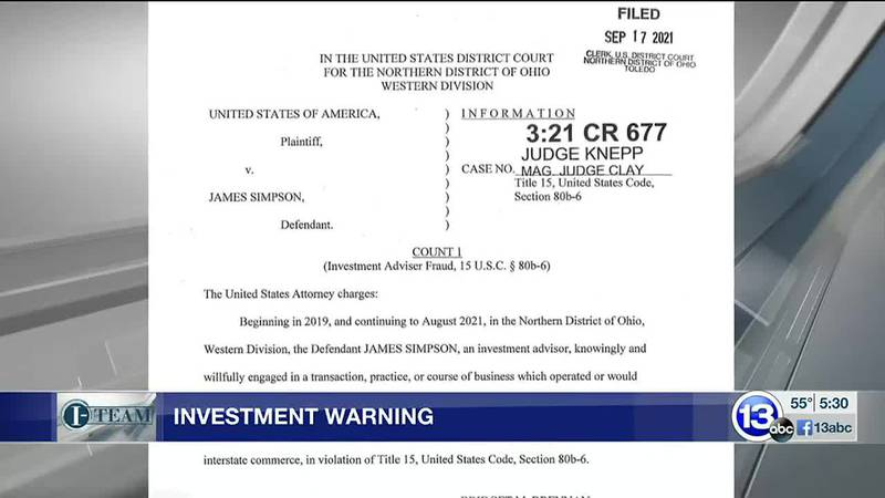 Toledo investment advisor facing federal fraud charge over $400,000