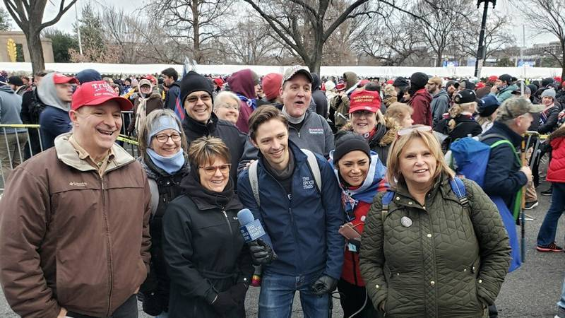 Lynn Gibbs stands with other members in Washington D.C.