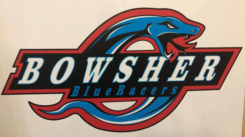Bowsher H.S. unveiled its new logo and mascot, the Blue Racers, on Wednesday, Dec. 9.