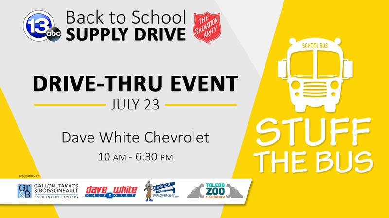 The 2021 Stuff the Bus campaign runs through July 23 and will culminate in a Drive-Thru Bash at...
