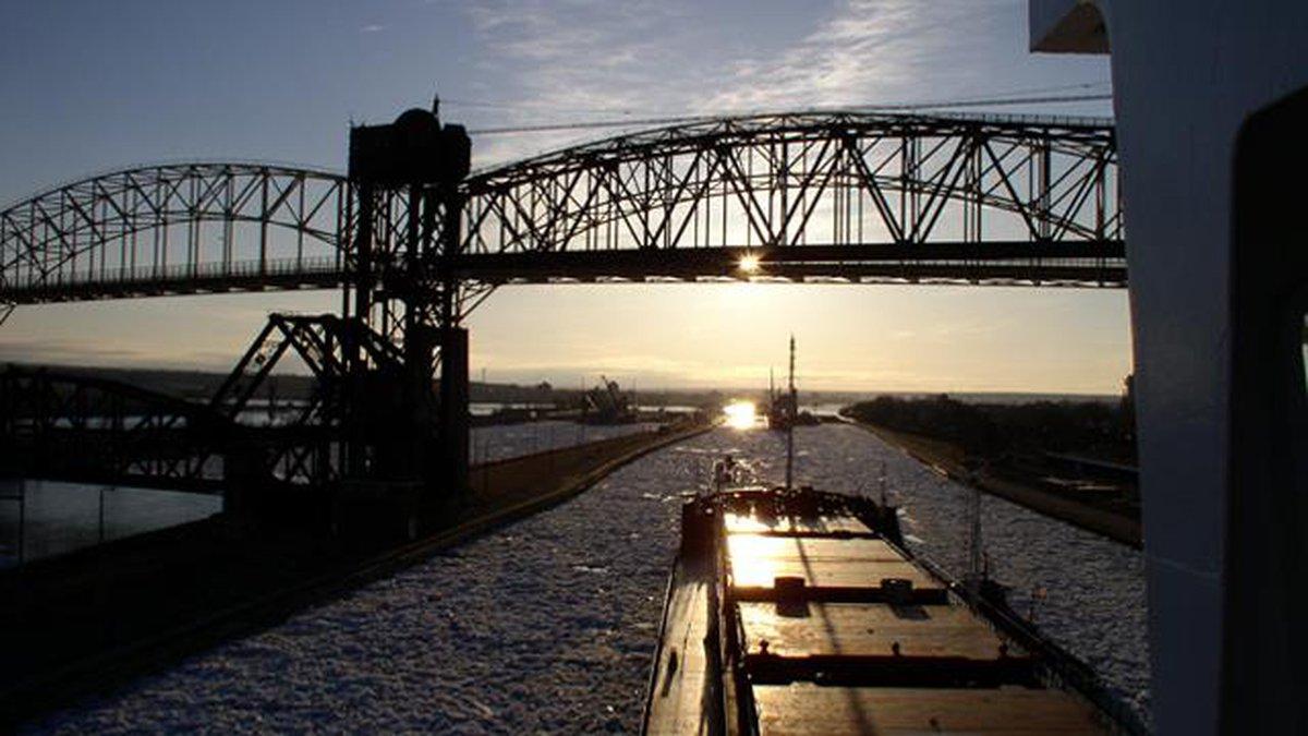 Sault Ste. Marie Locks - Cropped Photo: WPBN